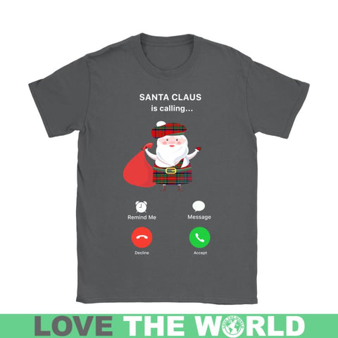 Image of Scotlands Santa Is Calling T-Shirt C1 District Long Sleeve Shirt / Navy S T-Shirts