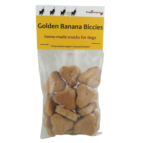 Happier Pets Dog Golden Banana Biccies