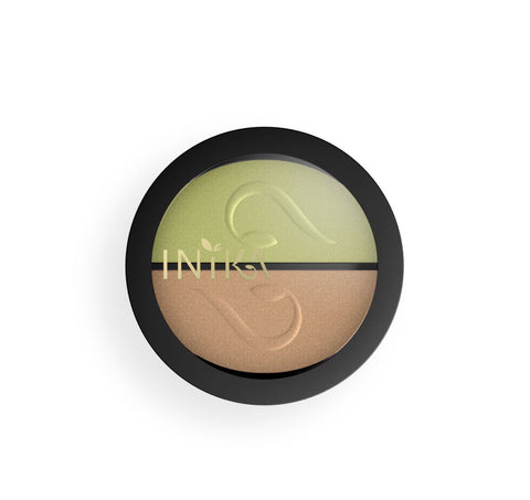 Inika Pressed Eyeshadow Duo -Khaki Dessert (Discontinued Shade)
