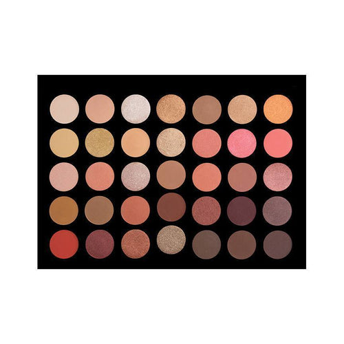 35 Colour Rose Gold Eye Shadow Palette Crownbrush