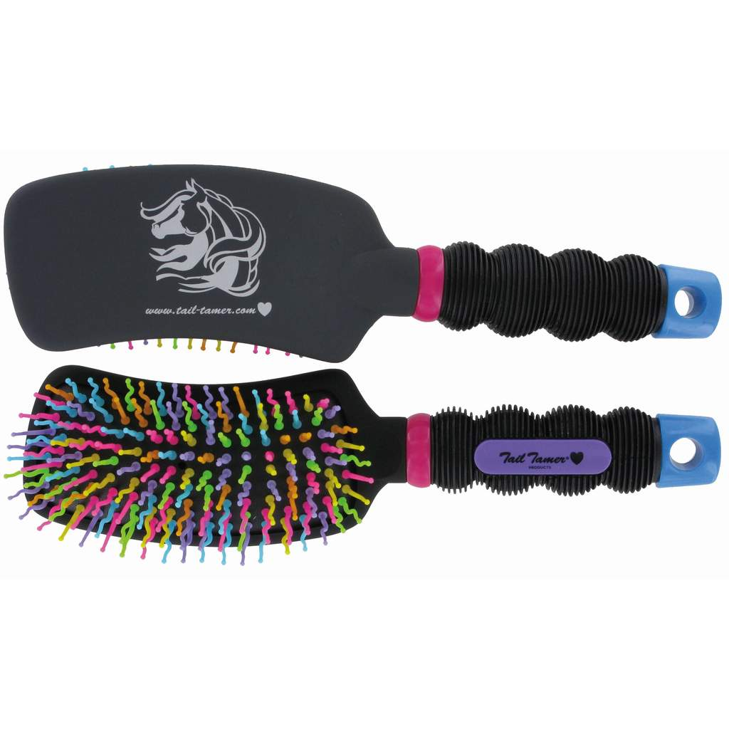 Professional's Choice Tail Tamer Curved Handle Rainbow Brush