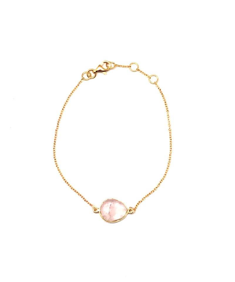 Rose quartz bracelet - Editions LESSisRARE Bijoux