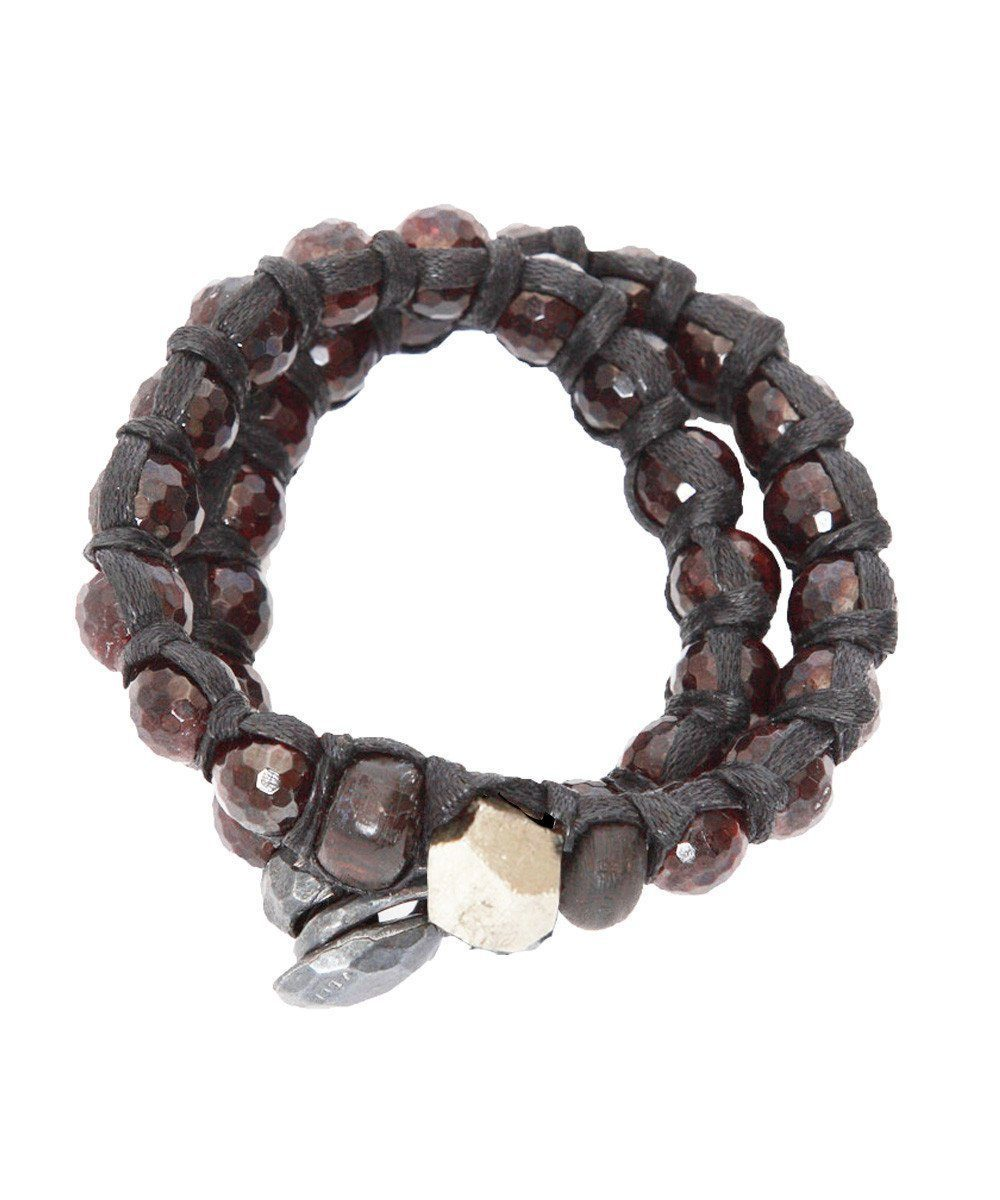 Double garnet and pyrite bracelet - Vanessa Dee
