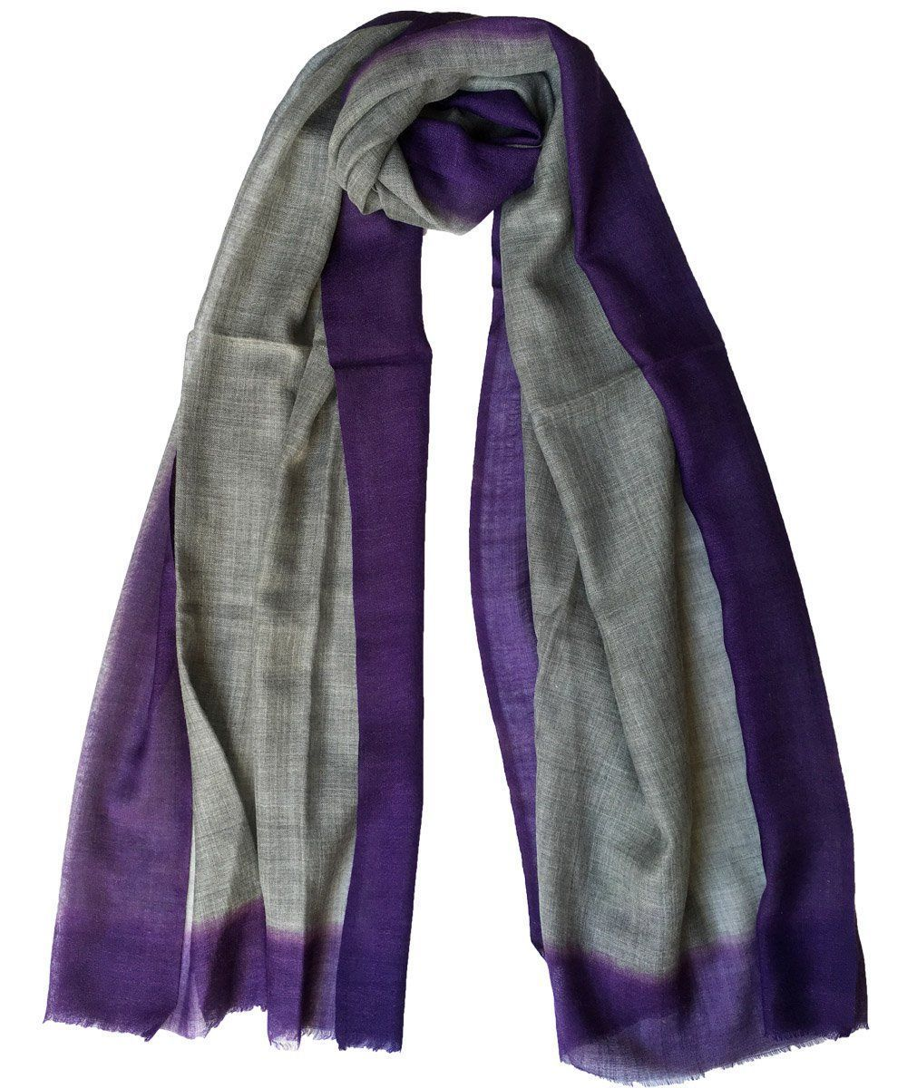 Gray wool scarf Tie and Dye - Editions LESSisRARE