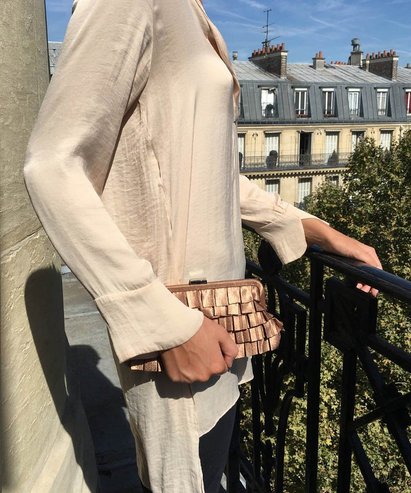 Beige beige evening clutch - Editions LESSisRARE