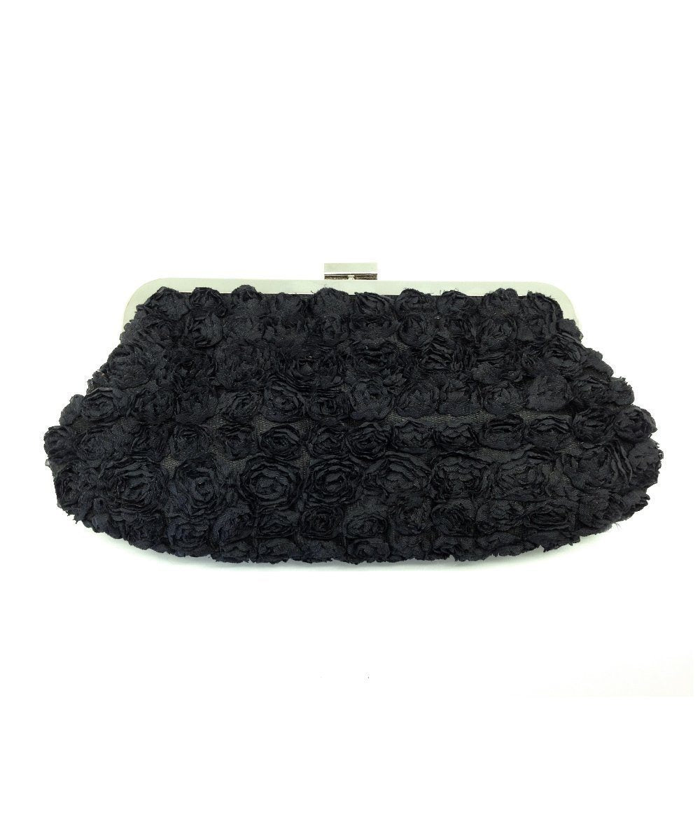 Black roses evening clutch - Editions LESSisRARE