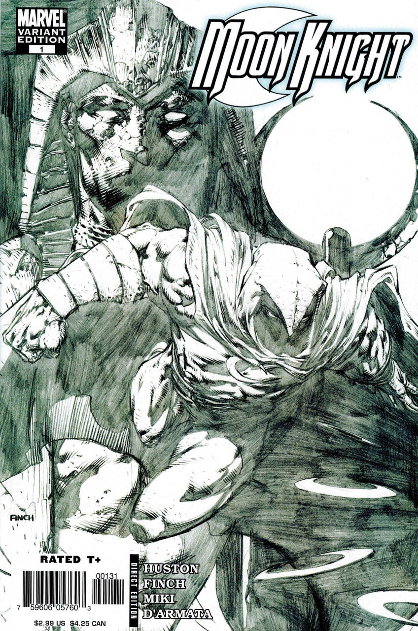 Moon Knight 1:15 Sketch Variant issue #1 David Finch igcomicstore