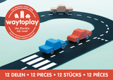 Flexible Road Toy by Waytoplay | Ringroad - 12 pieces | Black and White