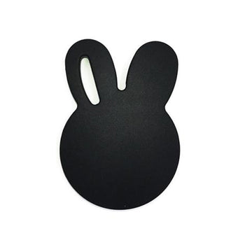 Bunny Baby Teether in Black by One.Chew.Three