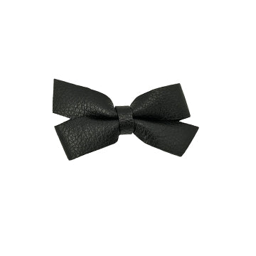 Classic Leather Bow Hair Clip in Black by CIALA Co