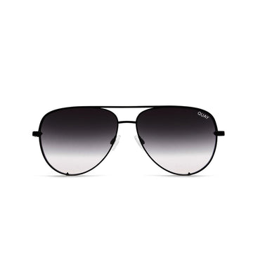 High Key Mini Sunglasses for Men and Women in Black with Fade by Quay Australia at CURRENT