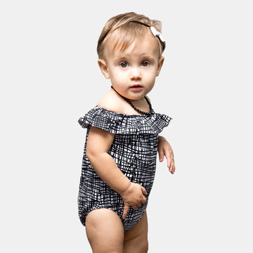 Luna Baby Girls Ruffle One Piece Swimsuit in Tangled by CURRENT