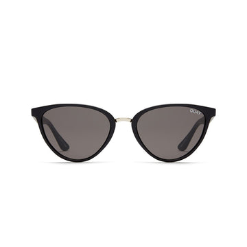 Rumours Sunglasses for Women in Black with Smoke by Quay Australia at CURRENT