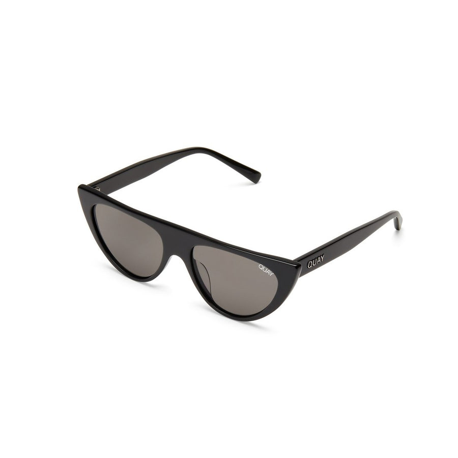 Run Way Sunglasses for Women in Black with Smoke by Quay Australia at CURRENT