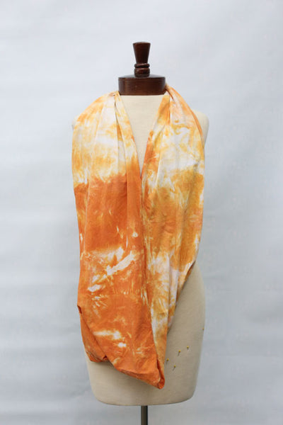 Hand dyed cotton jersey infinity scarf C25