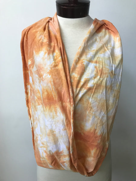 Hand dyed cotton jersey infinity scarf C58