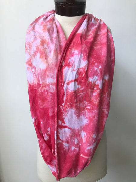 Hand dyed cotton jersey infinity scarf C61