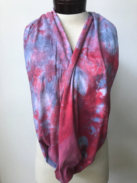 Hand dyed cotton jersey infinity scarf C59