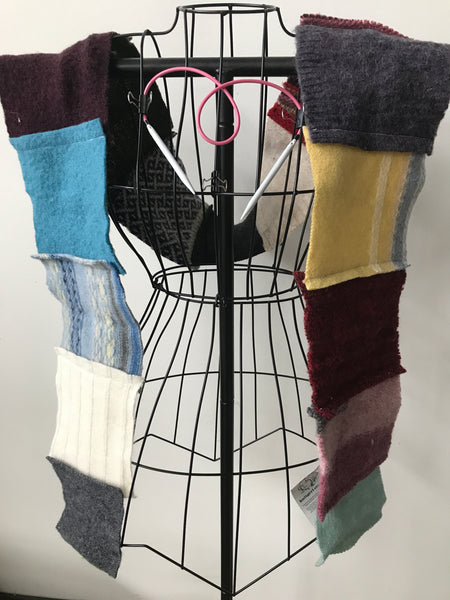 Recycled sweater scarf r21