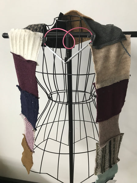 Recycled sweater scarf R17