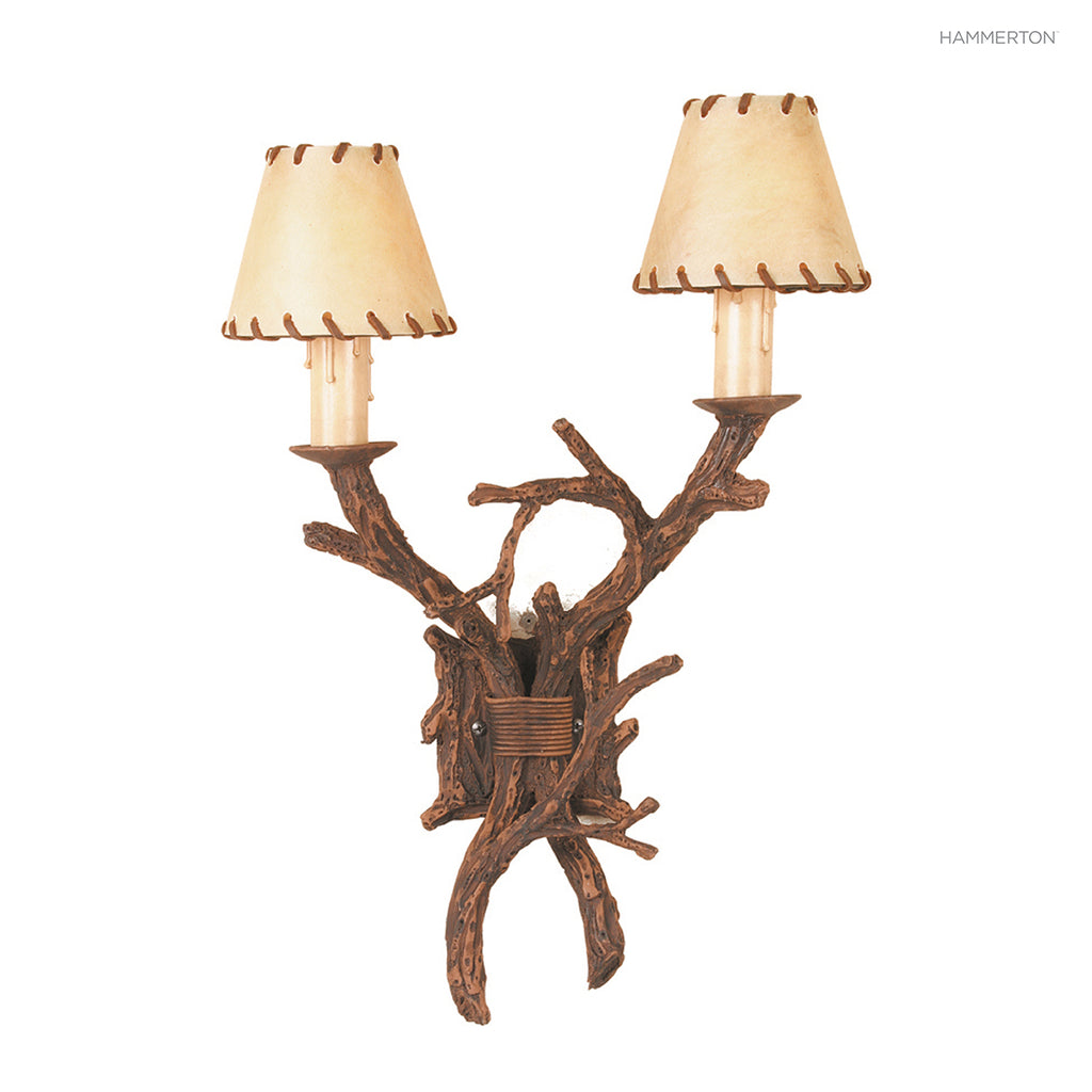 ID7137 Log and Timber Sconce