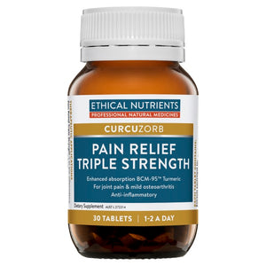 Ethical Nutrients CURCUZORB Pain Relief Triple Strength 30 Tabs | HealthMasters