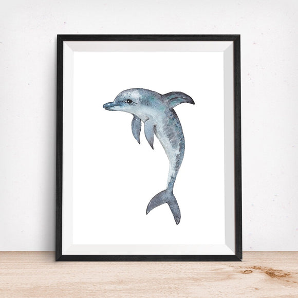 Sealife Series, Dolphin- Art Print