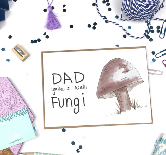 Father's Day, Dad Fungi- A2 Greeting Card