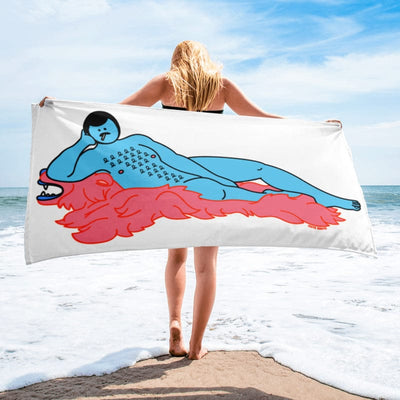 Cute Brute Burt Beach Towel - Rolik