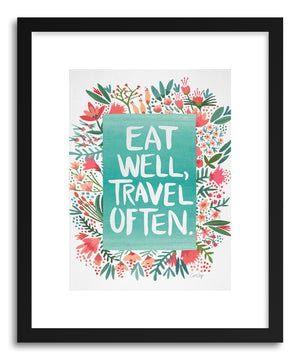 Art print eattravel White by artist Cat Coquillette