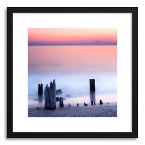 hide - Art print Seascape No.2 by artist Evgeni Dinev in white frame