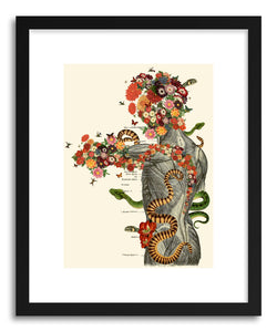hide - Art print Serpens by artist Travis Bedel in natural wood frame