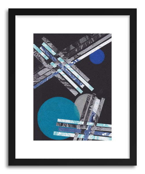 Art print Blue Moons No.9 by artist Jane Philipps