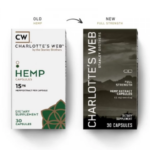 CHARLOTTE'S WEB FULL STRENGTH CBD CAPSULES