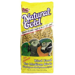 Pretty Bird Natural Gold Food Medium Bird, 2.6 lbs