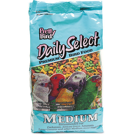Pretty Bird Daily Select Premium Extruded Bird Food, Medium, 3 lbs