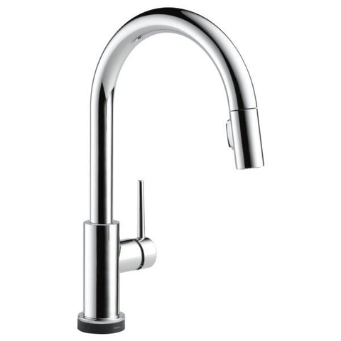 DELTA 9159T-DST POLISHED CHROME TRINSIC 1 HOLE DECK MOUNT PULL-DOWN LEVER HANDLE KITCHEN FAUCET WATER EFFICIENT LEAD FREE ADA