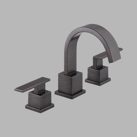 DELTA 3553LF-RB VENETIAN BRONZE VERA 3 HOLE DECK MOUNT WIDESPREAD LEVER HANDLE LAVATORY FAUCET WATERSENSE LEAD FREE ADA
