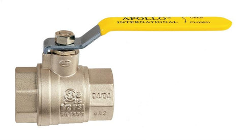 APOLLO 94A10A01 4 FIP BRASS FULL PORT BALL VALVE CSA UL