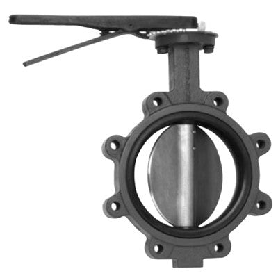 MAINLINE ML938BESL-12 12 LUG DUCTILE IRON BUTTERFLY VALVE WITH LEVER HANDLE ALUMINUM BRONZE DISC AND EPDM SEAT