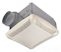 NUTONE 763RLN 50 CFM 2.5 SONES. FAN WITH 100W INCANDESCENT LIGHT (BULB NOT INCLUDED) 4IN DUCT