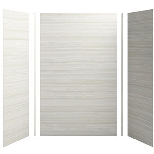 KOHLER K-97615-W07 VEINCUT DUNE CHOREOGRAPH 60X32X96 3 PIECE SHOWER WALL WITH CORNER JOINTS