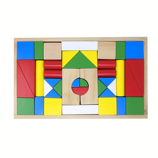 Building Blocks with Wooden Box (40 Pcs)