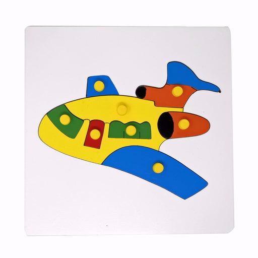 Airplane Inset Puzzle board with knob (08 Pcs)