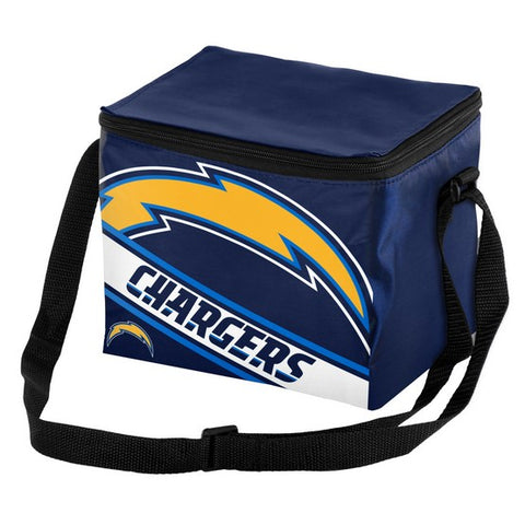 Los Angeles Chargers Big Logo Stripe 6pk Lunch Bag