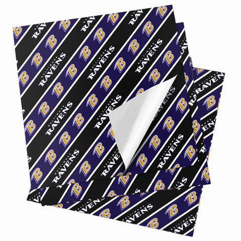 Baltimore Ravens Folded Wrapping Paper