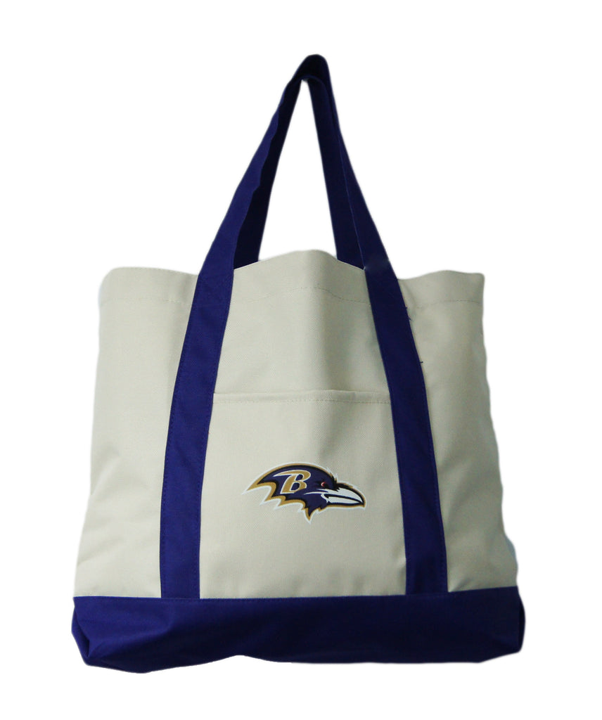 Baltimore Ravens Large Khaki Tote