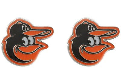 Baltimore Orioles Post Earrings Logo