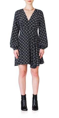 Alexandria Star Print Silk Dress