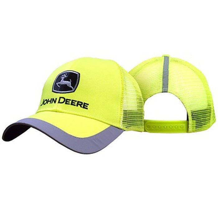 John Deere Men's High Visibility Yellow Cap With Reflective Trim Product ID: LP43951